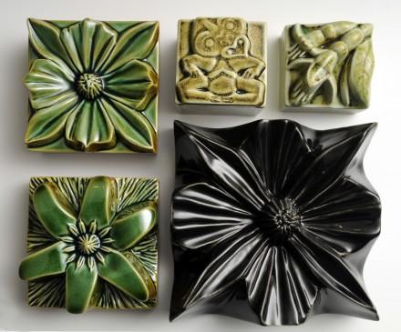 Composition squares, quarters and flowers