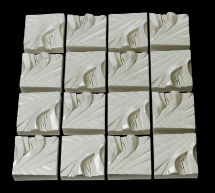 Wall Art Infinity Panel White Flax Squares