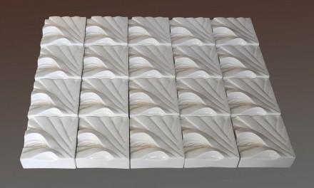 Flax Squares White