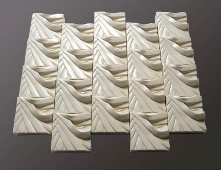 Flax Square composition White