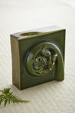 Koru Wall Square Soda Green